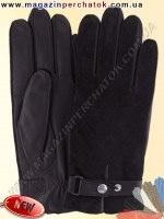 Модель № 501а Перчатки мужские из натуральной кожи на шерстяной подкладке. Кожа производства Италии.
