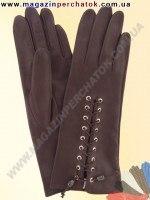 Модель № 016 Перчатки женские из натуральной кожи без подкладки. Кожа производства Италии.