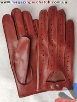 Модель № 079 Перчатки для водителей из натуральной кожи без подкладки. Кожа производства Италии.