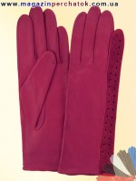 Модель № 053 Перчатки женские из натуральной кожи без подкладки. Кожа производства Италии.