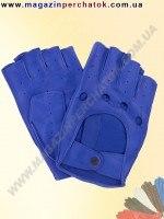 Модель № 244 Перчатки вело из натуральной кожи без подкладки. Кожа производства Италии.