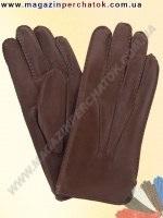 Модель № 120 Перчатки мужские из натуральной кожи на шерстяной подкладке. Кожа производства Италии.