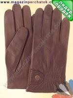 Модель № 106 Перчатки мужские из натуральной кожи на шерстяной подкладке. Кожа производства Италии.