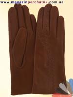 Модель № 065 Перчатки женские из натуральной кожи без подкладки. Кожа производства Италии.