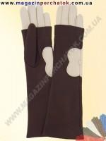 Модель № 373 Перчатки женские длинные из натуральной кожи. Кожа производства Италии.