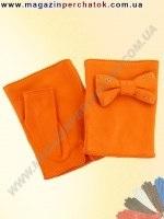 Модель № 339 Митенки. Перчатки женские из натуральной кожи без подкладки. Кожа производства Италии.