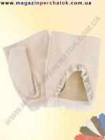 Модель № 342 Митенки. Перчатки женские из натуральной кожи без подкладки. Кожа производства Италии.