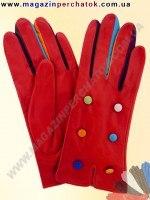 Модель № 354 Перчатки женские из натуральной кожи на шерстяной подкладке. Кожа производства Италии.