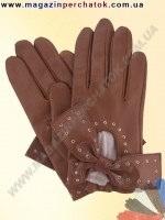 Модель № 379 Перчатки женские из натуральной кожи на шерстяной подкладке. Кожа производства Италии.
