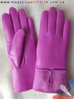 Модель № 150 Перчатки женские из натуральной кожи на подкладке из натурального меха. Кожа производства Италии..