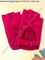 Модель № 399 Перчатки женские из натуральной кожи без подкладки. Митенки. Кожа производства Италии.