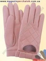 Модель № 396 Перчатки женские из натуральной кожи на шелковой подкладке. Кожа производства Италии.