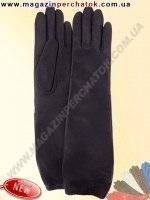 Модель № 451 Перчатки женские длинные из натуральной кожи на шерстяной подкладке. Кожа производства Италии.